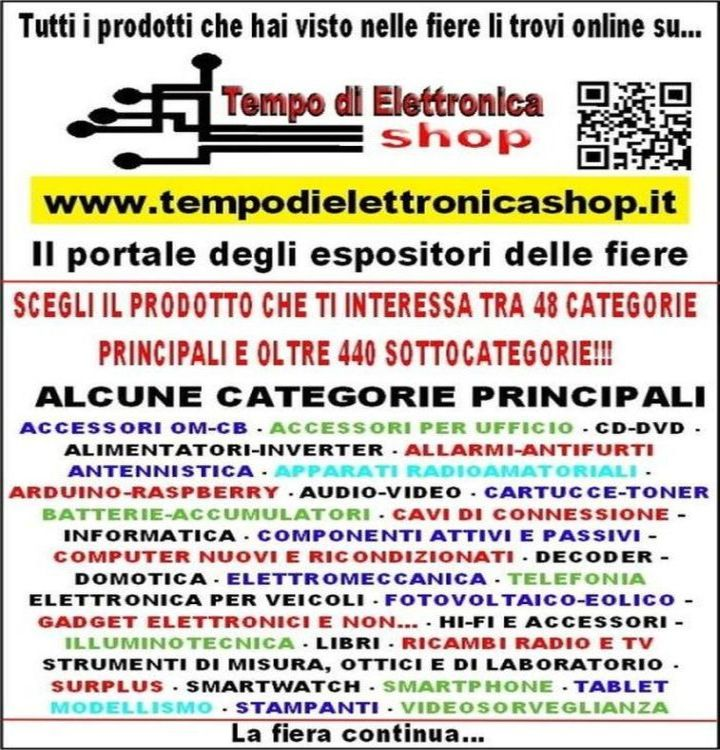 tempo di elettronica shop categorie